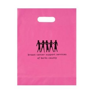 Breast Cancer Awareness Pink Frosted Die Cut Bag (12